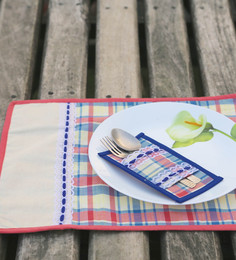 My Gift Booth Multicolour Cotton Placemats - Set Of 6