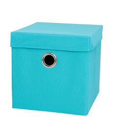 My Gift Booth Non-Woven Blue Storage Basket