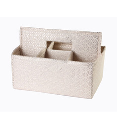 MY GIFT BOOTH Off-White Brocade Table Organiser