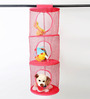 My Gift Booth Can-Can Coral 3-Compartment Wardrobe Organiser