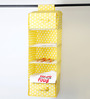 My Gift Booth Cotton Yellow 5 Compartments Wardrobe Organiser