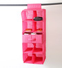 My Gift Booth Non-Woven Pink 9-Compartment Wardrobe Organiser