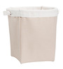 My Gift Booth Sturdy Cotton 5 L Beige & Cream Laundry Bag