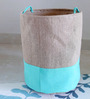 My Gift Booth Jute 20 L Multicolour Collapsible Laundry Bag