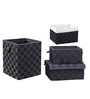 My Gift Booth Black 90 L Storage Box - Set of 4