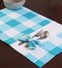 My Gift Booth Bow Blue & White Cotton Table Mat - Set of 6