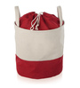 My Gift Booth Canvas 15 L Cream & Red Laundry Hamper