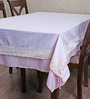 My Gift Booth Check Pink Cotton Table Cover