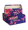 My Gift Booth Dupion Navy Blue 20 L Boxes - Set of 2