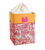 My Gift Booth Faux Leather 20 L Pink & Orange Laundry Box