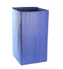 My Gift Booth Nonwoven 35 L Blue Laundry Basket