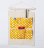 My Gift Booth Polka Dots Canvas Yellow Organiser