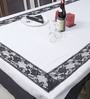 My Gift Booth Lace Style Multicolour Jute Table Cover