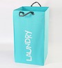 My Gift Booth Non-Woven 35 L Cyan Laundry Basket