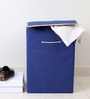 My Gift Booth Non-Woven 20 L Navy Blue Laundry Hamper