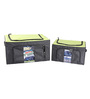 My Gift Booth Nylon Black & Lime Green 30 L Storage Box - Set of 2