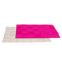 My Gift Booth Pink & Beige Felt & Jute Placemats - Set of 6