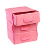 My Gift Booth Nylon Pink 3-Tray Drawer