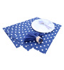 My Gift Booth Polka Dot Blue Cotton Placemats with Napkin & Ring - Set of 18