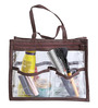 My Gift Booth PVC Brown & Transparent Purse Organiser