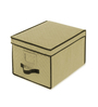 My Gift Booth Quilted Non-Woven Beige 10 L Storage Box