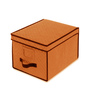 My Gift Booth Quilted Non-Woven Orange 10 L Storage Box