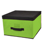 My Gift Booth Quirky Cotton & Faux Leather 15 L Storage Box