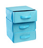 My Gift Booth Nylon Sky Blue 3-Tray Drawer