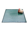 My Gift Booth Square Green Faux Leather Table Mat - Set of 6