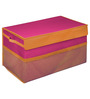 My Gift Booth Non-woven Pink Foldable Storage Trunk