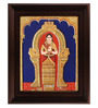 Myangadi Multicolour Gold Plated Akkamal Framed Tanjore Painting