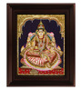 Myangadi Multicolour Gold Plated Iswarya Lakshmi 2.9 X 14 X 18 Inch Framed Tanjore Painting