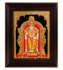 Myangadi Multicolour Gold Plated 2.9 X 14 X 18 Inch Murugan Framed Tanjore Painting