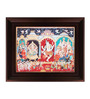Myangadi Multicolour Gold Plated Nataraja Dance Framed Tanjore Painting