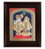 Myangadi Multicolour Gold Plated Radha Krishna Plywood & Cloth Framed Tanjore Painting