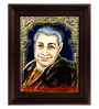 Myangadi Multicolour Gold Plated Pondichery Annai Framed Tanjore Painting