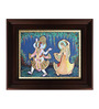 Myangadi Multicolour Gold Plated Dancing Radha Krishna Framed Tanjore Painting