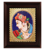 Myangadi Multicolour Gold Plated Radha Krishna Framed Tanjore Painting