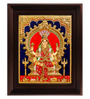 Myangadi Multicolour Gold Plated Renuka Devi Framed Tanjore Painting