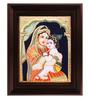 Myangadi Multicolour Gold Plated Yasotha Krishna Tanjore Plywood & Cloth Framed Painting