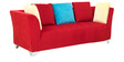 Naples RHS Corner Sofa Set in Red Colour by Furnitech