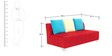 Naples LHS Corner Sofa Set in Red Colour by Furnitech