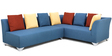 Naples RHS Sofa Corner Set in Blue Colour by Furnitech