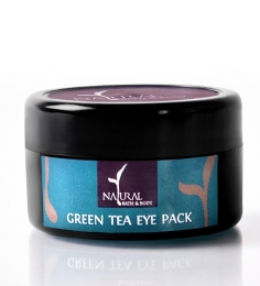 Natural Bath And Body Green Tea Eye Gel Pack 10 Gms