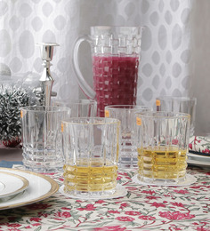 Nachtmann Glass 345 ML Line Pattern Tumbler - Set of 6