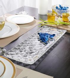 Nachtmann Glass Criss-Cross Rectangle Plate