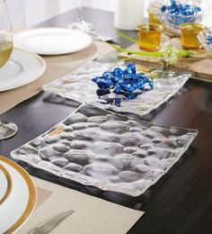 Nachtmann Glass Pebbles Square Plate