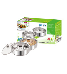 Nano 9 Insulated Mini and Small Chapati Casserole Set - Pack of 2
