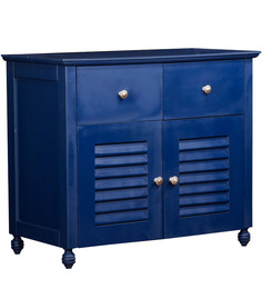 Nautical Theme Dresser Table in Navy Blue Finish by Pink Guppy