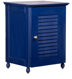 Nautical Theme Night Stand in Navy Blue Finish by Pink Guppy